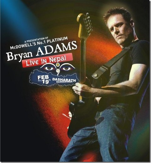 Bryan Adams-live-in-nepal-poster