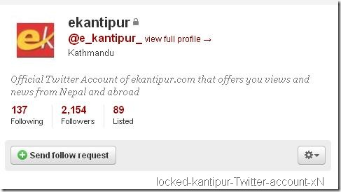 official-kantipur-twitter-account