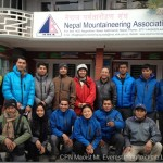 Politics on the peak, CPN Maoist team preparing the Mt. Everest ascent