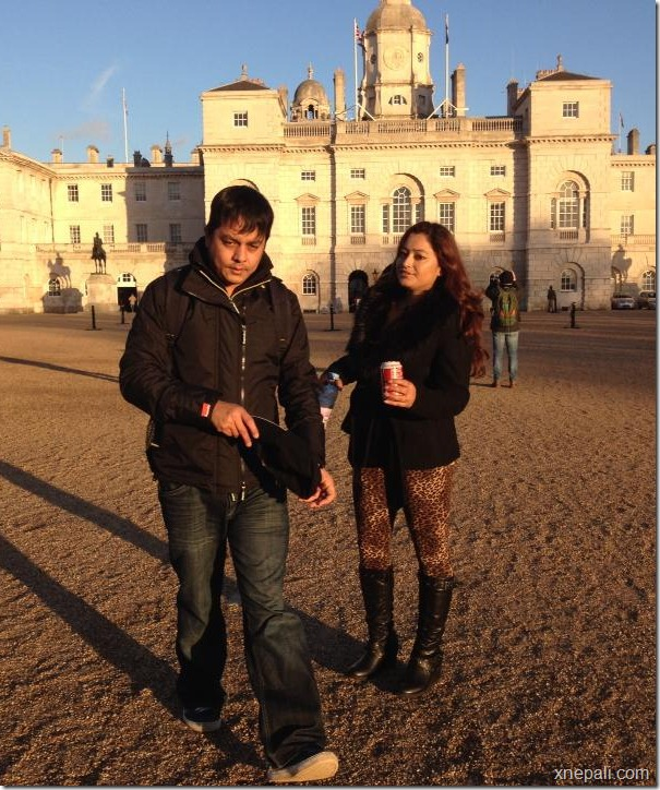 dilip with his wife europe