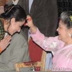 Manisha Koirala took Dashain Tika from the former king and queen
