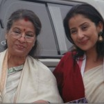 Manisha Koirala with her Mother smiling