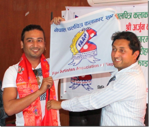 arjun karki flag handover everest