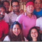 Artists organized a special treat for Richa Ghimire and Sanchita Luitel