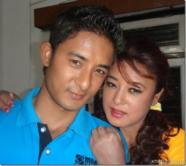 Mausami Malla with her son Vicky Malla