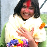 Victorious actress Nisha Adhikari received a warm welcome