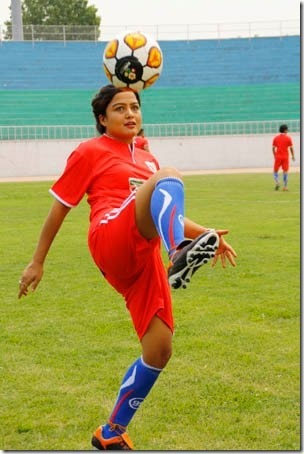rekha-football-action