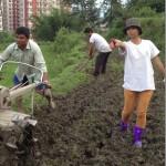 Binita Baral starts organic farming (Photos)