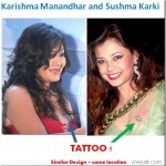 Tattoo on breast, Sushma following Karishma's steps?