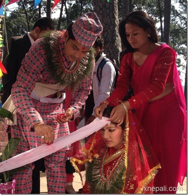 sabin shrestha marriage - adhi bato