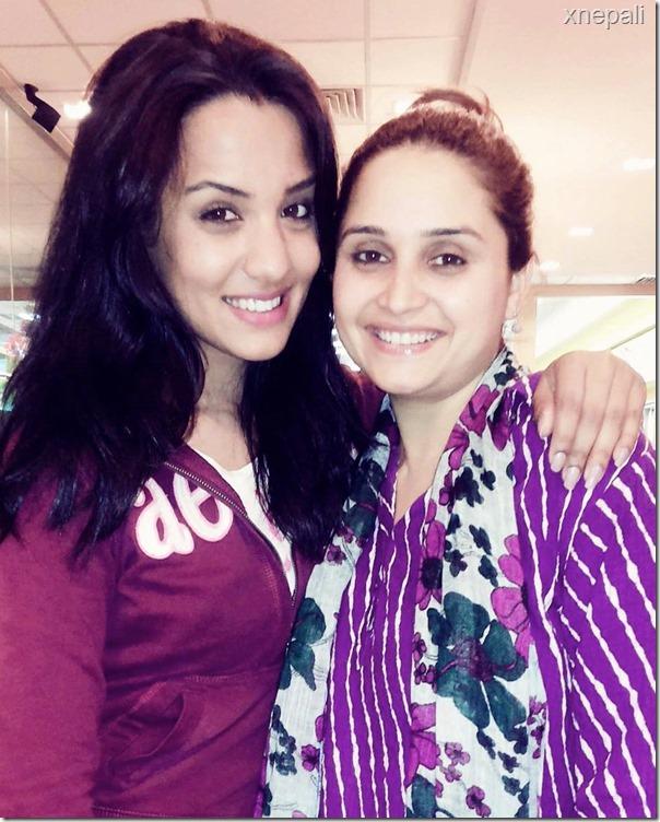 priyanka Karki and sanchita luitel