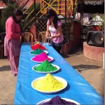 Karishma Manandhar preparation of Holi