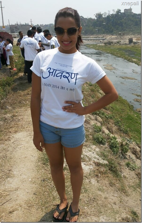 Priyanka Karki and Aawaran team clean Bagmati river for film promotion
