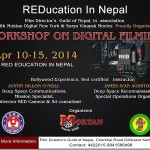 5-days workshop on digital filming, REDucation, started in Pokhara