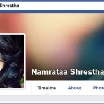 Namrata Shrestha connects to her fans in Facebook and Twitter