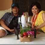 The bed, the first night (suhagraat) of Rajesh Hamal after marriage (video, photos)