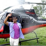 Rajesh Hamal chartered a helicopter to participate in his hair dresser's marriage