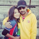 Sahana Bajrachary and Suraj Giri found making it out in a car