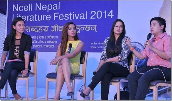 Celebrity gossips in Ncell Literature Festival