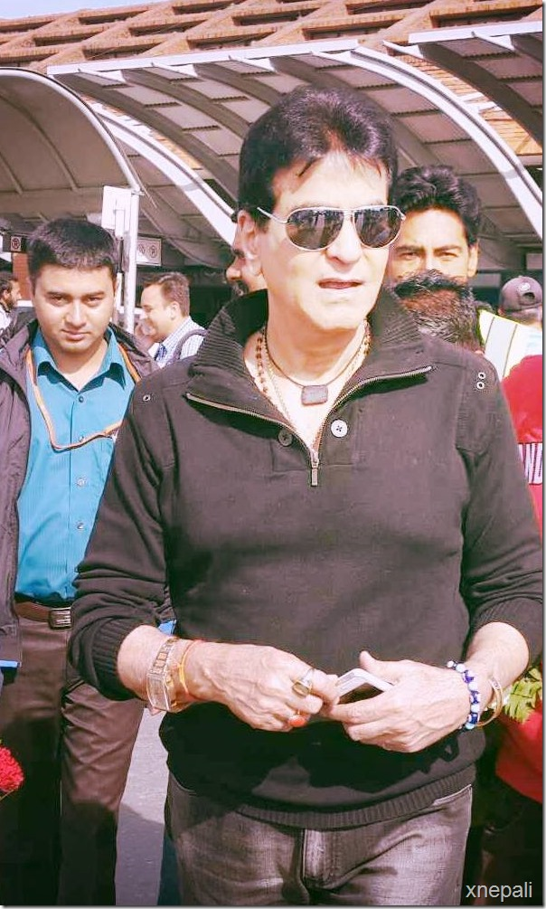 Bollywood Actor Jitendra arrives in Nepal