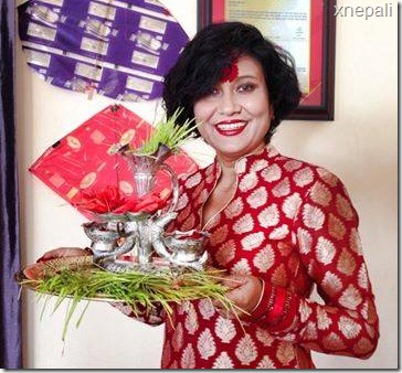 Dashain Tika of Nepali celebrities