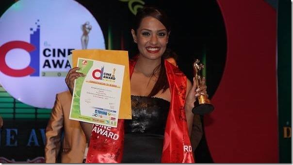 priyanka karki with d cine award