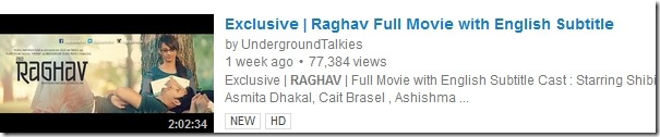 Why was Raghav released in internet instead of theaters?