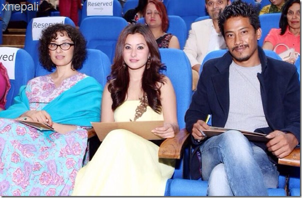 manisha koirala namrata shrestha nischal basnet judging dance