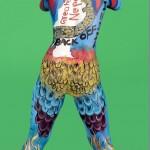 Tirsana Budhathoki paints #BackOffIndia on her body (video report)