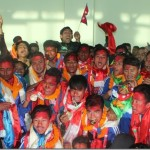 Nepali artists welcome Team Nepal, Gold Medal winner at SAG Football