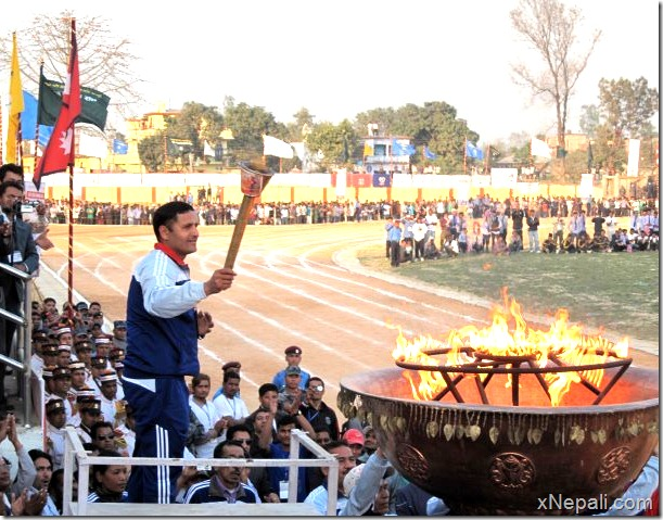 Deepak_bista_burning_flame_6th_national_game