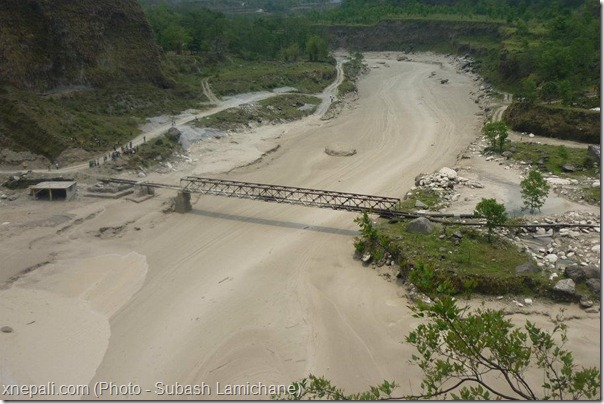 seti_river_flood_snow_avalance_bridge_damaged