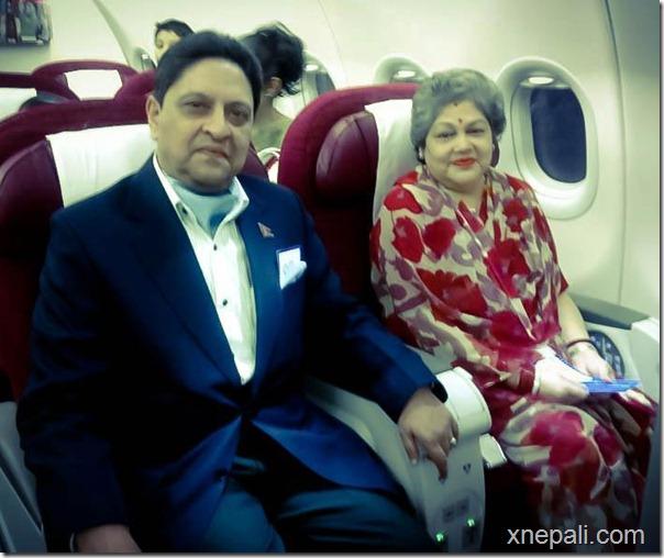 gyanendra_shah_komal_shah_qatar_air