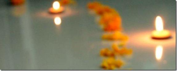 tihar diyo and flower