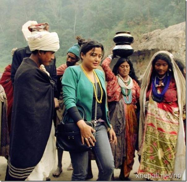 rekha thapa with raute commmunity