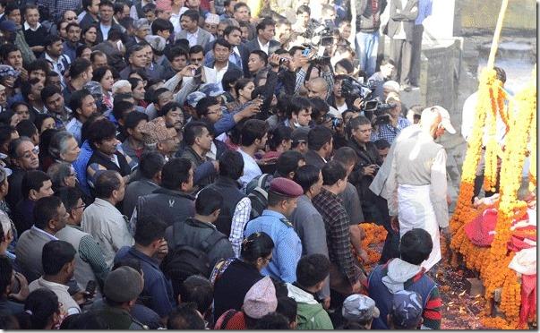 gyanu kc - crowd in aryaghat