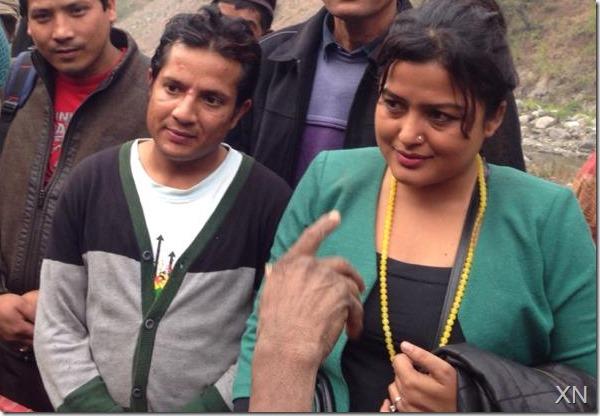 shyam bhattarai and rekha thapa in with raute