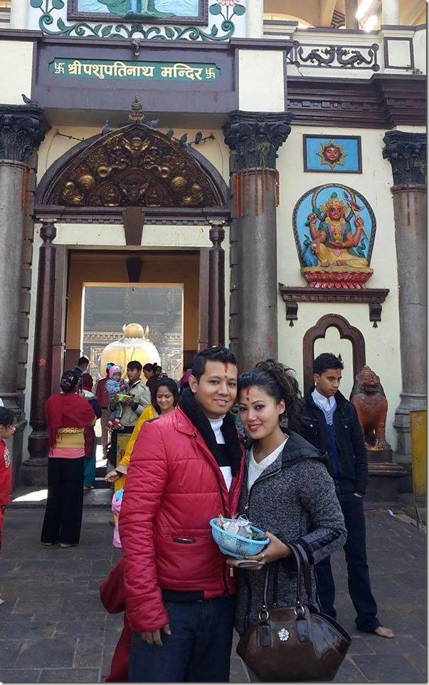 harshika shrestha with her boyfriend