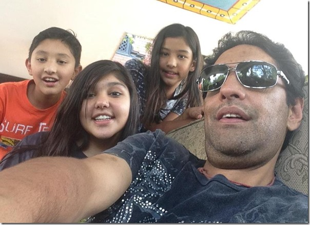 pars shah with happy children