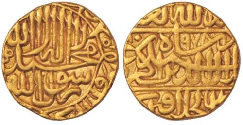 akabar gold coin