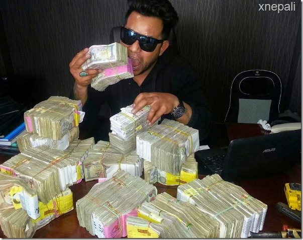 kumar ghaite with money and arms