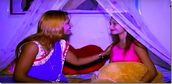 archana and sunita paneru in music video