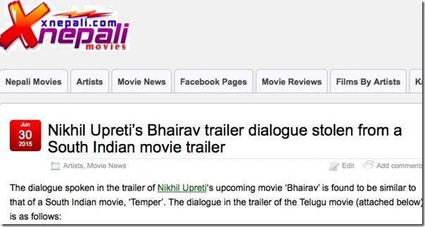 bhairav dialogue stolen