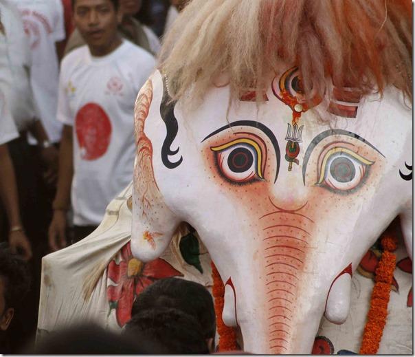indrajatra festival in hanumandhoka
