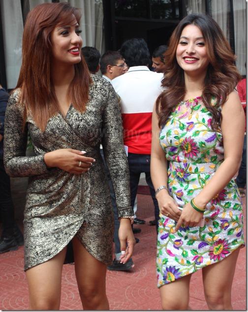 priyanka karki and namrarata shrestha hot dress