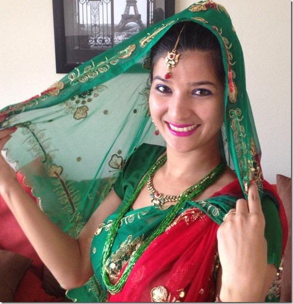 bindu-pariyar-nepali-saree-