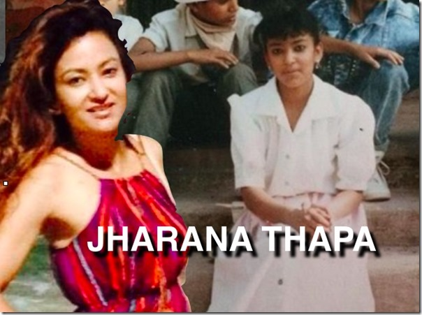 jharana thapa childhood photo compared