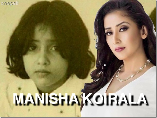 manisha koirala childhood photo