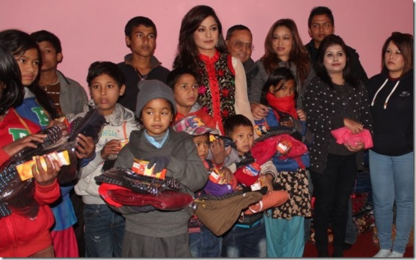 sweta khadka celebrates shree krishna birthday by social work