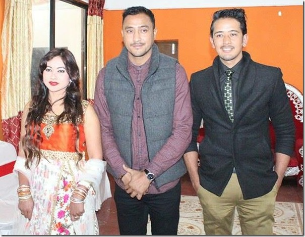 paras khadka with dikpal karki and manjita kc